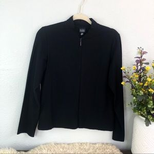Eileen Fisher stretchy knit bomber jacket thin